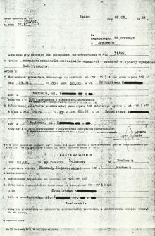 Do Prokuratora Rejonowego w Zwoleniu