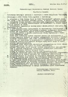 Przewodniczący Wojewódzkiej Komisji Kontroli Partii ...