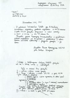 Szyfrogram otrzymany 451, rozszyfrowano 22.06.76 r. g. 17.00