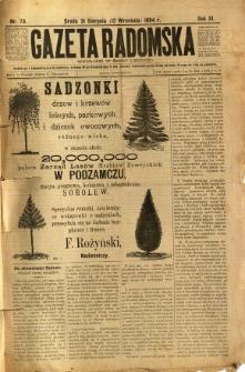 Gazeta Radomska, 1894, R. 11, nr 73