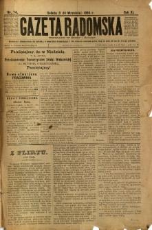 Gazeta Radomska, 1894, R. 11, nr 74