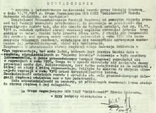 Oświadczenie, z dnia 13 listopada 1981 r.