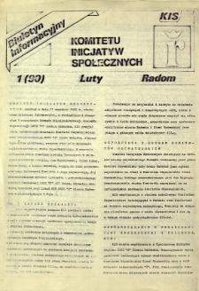 Biuletyn Informacyjny Komitetu Inicjatyw Społecznych, R. 1990, nr 1
