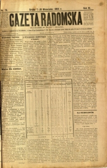 Gazeta Radomska, 1894, R. 11, nr 75