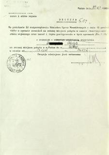 Decyzja, z dnia 12 lutego 1982 r.