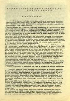 """Informacje Oświadczenia Komunikaty NSZZ """"Solidarność"""""""
