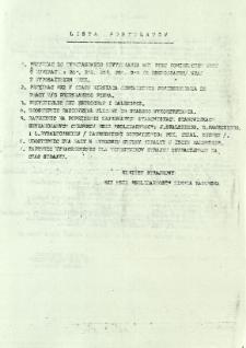 Lista postulatów