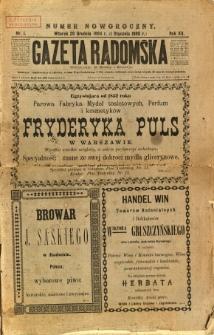 Gazeta Radomska, 1895, R. 12, nr 1