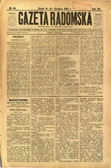 Gazeta Radomska, 1898, R. 15, nr 66