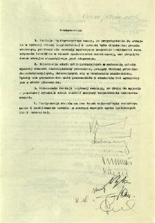 Oświadczenie, z dnia 12 listopada 1981 r.