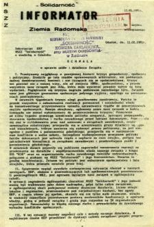 """""""Solidarność"""" Informator Ziemia Radomska"""
