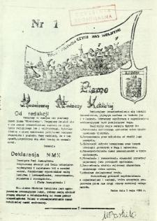 Pismo Niezależnej Młodzieży Katolickiej, 1989, nr 1
