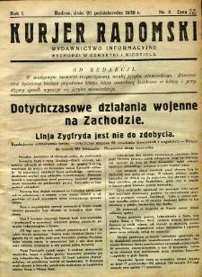 Kurier Radomski, 1939, R. 1, nr 5