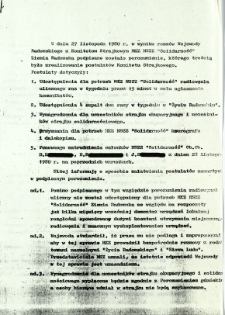 W dniu 27 listopada 1980 r. w wyniku rozmów ...