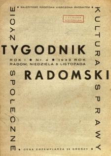 Tygodnik Radomski, 1933, R. 1, nr 4
