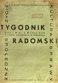 Tygodnik Radomski, 1933, R. 1, nr 9