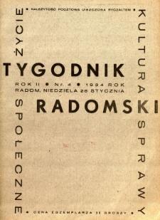 Tygodnik Radomski, 1934, R. 2, nr 4
