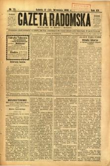 Gazeta Radomska, 1898, R. 15, nr 73
