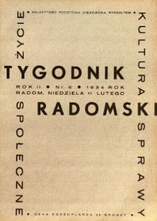 Tygodnik Radomski, 1934, R. 2, nr 6
