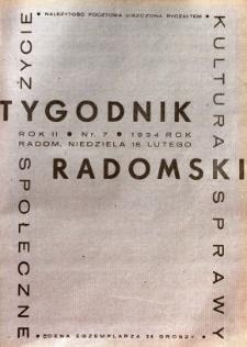 Tygodnik Radomski, 1934, R. 2, nr 7