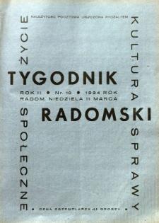 Tygodnik Radomski, 1934, R. 2, nr 10