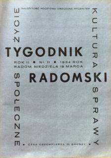 Tygodnik Radomski, 1934, R. 2, nr 11