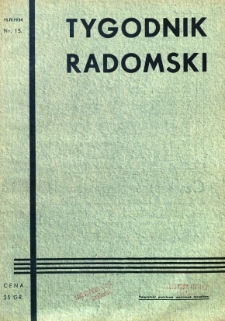 Tygodnik Radomski, 1934, R. 2, nr 15