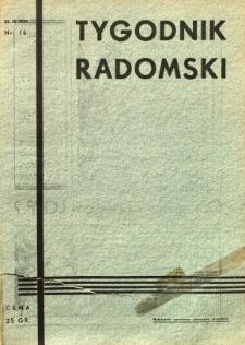 Tygodnik Radomski, 1934, R. 2, nr 16