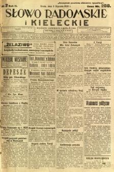 Słowo Radomskie i Kieleckie, 1923, R.2, nr 2