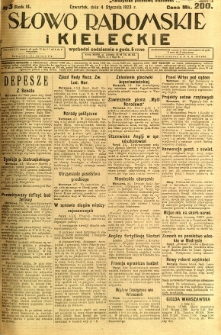 Słowo Radomskie i Kieleckie, 1923, R.2, nr 3