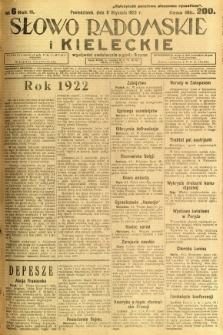 Słowo Radomskie i Kieleckie, 1923, R.2, nr 6