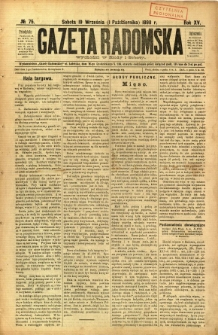Gazeta Radomska, 1898, R. 15, nr 75