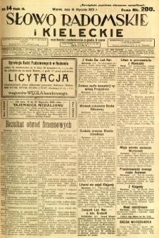 Słowo Radomskie i Kieleckie, 1923, R.2, nr 14
