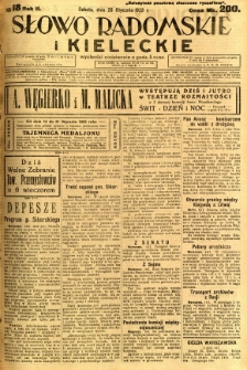 Słowo Radomskie i Kieleckie, 1923, R.2, nr 18