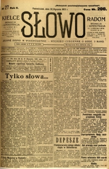 Słowo, 1923, R.2, nr 27