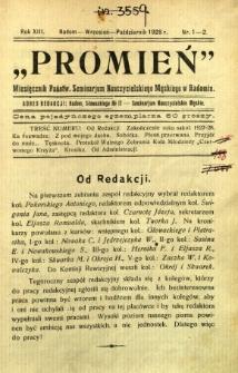 Promień, 1928, R. 13, nr 1/2