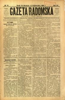Gazeta Radomska, 1898, R. 15, nr 78