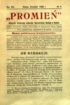 Promień, 1928, R. 13, nr 4