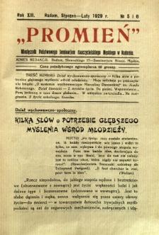 Promień, 1929, R. 13/14, nr 5/6
