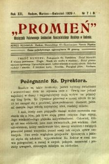 Promień, 1929, R. 13/14, nr 7/8