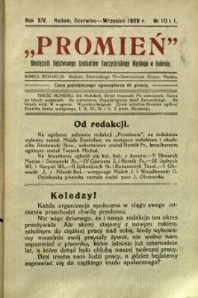 Promień, 1929, R. 13/14, nr 10/1