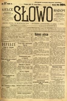 Słowo, 1923, R. 2, nr 37