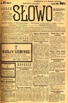 Słowo, 1923, R. 2, nr 40
