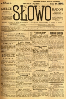 Słowo, 1923, R. 2, nr 42