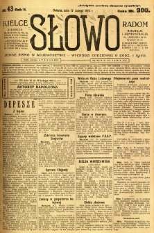 Słowo, 1923, R. 2, nr 43