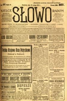 Słowo, 1923, R. 2, nr 44
