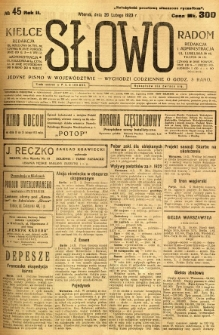 Słowo, 1923, R. 2, nr 45