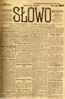 Słowo, 1923, R. 2, nr 48
