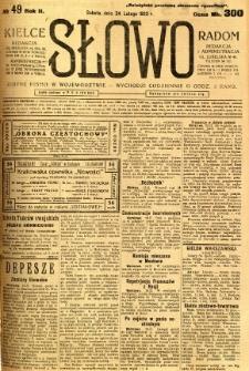 Słowo, 1923, R. 2, nr 49