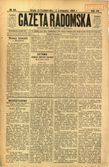 Gazeta Radomska, 1898, R. 15, nr 84